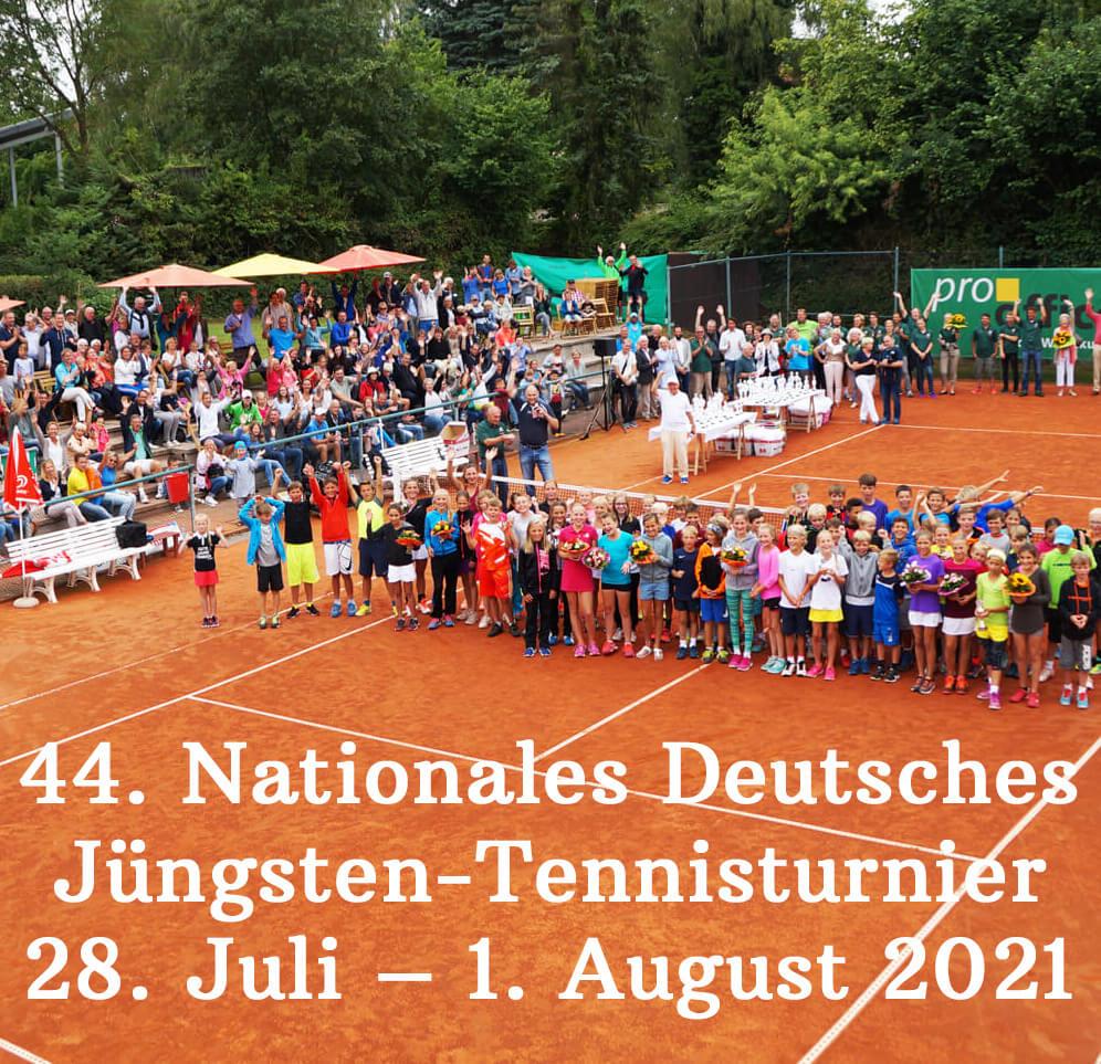Die 44. Auflage des Jüngsten-Tennisturniers findet vom 28. Juli – 1. August 2021 statt