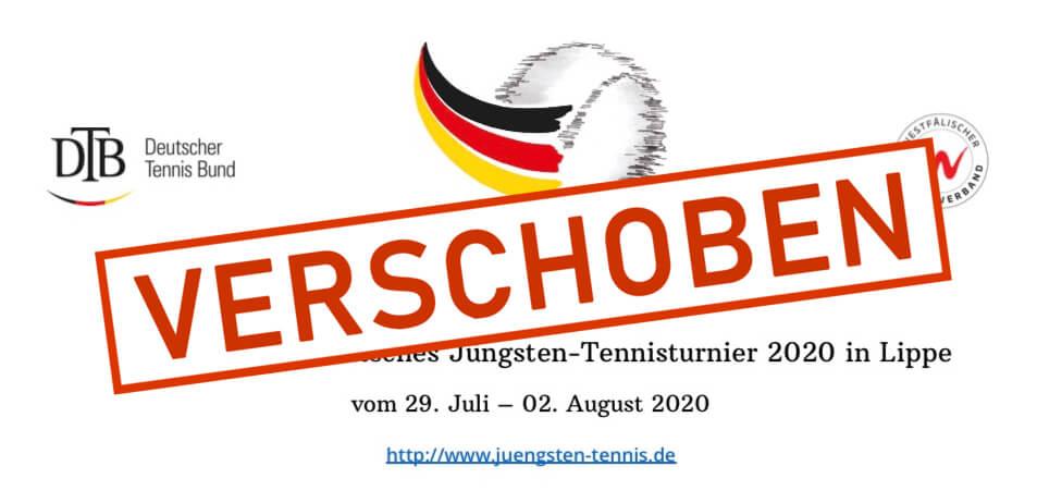 44. Nationales Deutsches Jüngsten-Tennisturnier auf Sommer 2021 verlegt